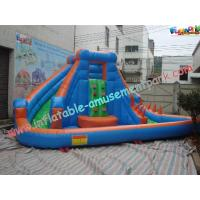 Wholesale Colorful Outdoor Inflatable Water Slides , Inflatable Pool Slide For Commercial Use from china suppliers