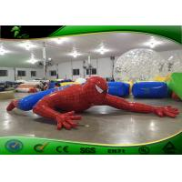 China Amusement Park Red Cartoon Inflatable Spider Man / Inflatable Yard Toys on sale