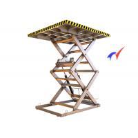 Buy cheap Warehouse Stationary Scissor Lift , 2500 × 1500 Platform Electric Mini Scissor from wholesalers