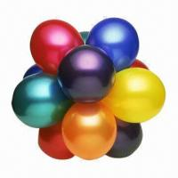 Buy cheap Latex Balloons, 7, 9 and 12 Inches, Metallic/Pearl Color, Trial and Small Orders from wholesalers