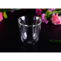 Wholesale Super Clear Double Wall Borosilicate Glass /  Party Double Wall Glass Tumbler 8.6*4.3*10cm from china suppliers