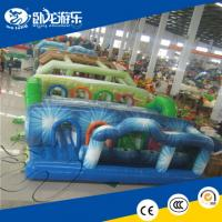 China Funny game 0.55mm PVC kids inflatable obstacle course,inflatable obstacle toy,inflatable tunnel maze on sale