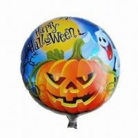 Wholesale Halloween Mylar Balloon for Parties, Weddings, Promotion and Decoration Usages, 18-inch Round Shape from china suppliers