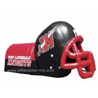 China Adults Inflatable Sports Games Football Team Inflatable Football Helmet Tunnel on sale