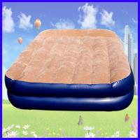 Wholesale PVC Flocking Covered Inflatable Air Beds , Portable Air Mattress from china suppliers