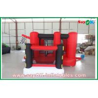 China Fun Red Inflatable Bouncy Castle Castle Customized With Slide on sale