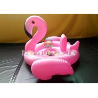 Wholesale Pink Flamingo Inflatable Pool Floats Strong PVC Custom Metal Frame from china suppliers