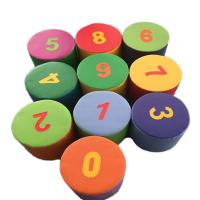 China Kids Indoor Soft Play Toys / Foam Figure Numbering Block  Environmental Protection on sale