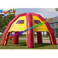 China Red Yellow Waterproof Advertising Air Inflatable Spider Tent For Event on sale