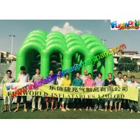 China Fire Retardant PVC Inflatables Obstacle Course 5K Climbing Jumping Castle on sale