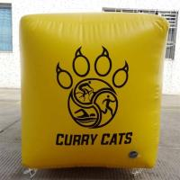 Inflatable cube shape PVC Tarpaulin Marker 0.9mm PVC inflatable buoys