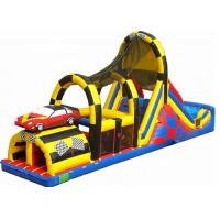 Wholesale Race Car Rush Line Inflatable Obstacle Courses Combo With Climbing And Slide from china suppliers