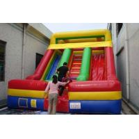 Wholesale Inflatble Slide / inflatable double lane slide 0.55mm PVC Tarpaulin from china suppliers