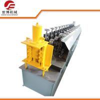 Quality PLC Metal Stud And Track Roll Forming Machine , Gutter Roll Forming Machine for sale