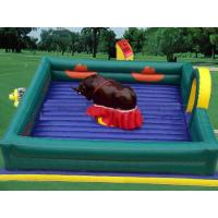 Wholesale Square Inflatable Mat Mechanical Bull ,  PVC Tarpaulin Inflatable Mat with Mechanical Rodeo Bull from china suppliers