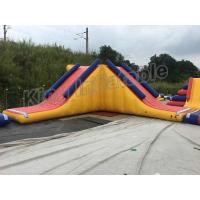 China Triangle Inflatable Water Floating Slide Water Park For Outdoor Games on sale