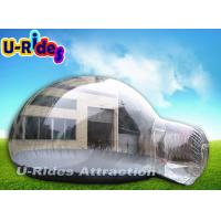Wholesale Pvc Tarpaulin Inflatable Bubble Tent , Clear Inflatable Lawn Tent With One Entrance from china suppliers