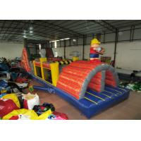 China Commercial inflatable obstacle courses construction worker inflatable obstacle courses inflatable builder courses on sale