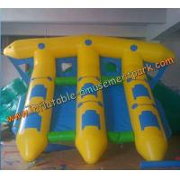 Wholesale Yellow Inflatable Boat Toys , Inflatable Flyfish Boat Towable 4m x 4m from china suppliers
