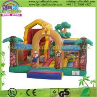 Wholesale Guangzhou QinDa Inflatable bouncy house catle from china suppliers