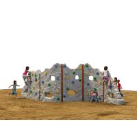 Quality Galvanized Steel Kids Climbing Wall Curved Plate Splicing Rock Artificial for sale