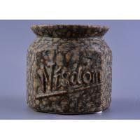 Wholesale Nut Pattern Ceramic Storage Jar / 440ml ceramic candle lantern With Rubber Foot from china suppliers