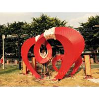 Buy cheap Metal Art Letters Stainless Steel Outdoor Sculpture Painted Red Color For Park from wholesalers