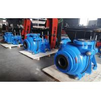 Wholesale Black Soft Rubber Lined Slurry Pumps with CV Motor on Top Belt Driven Blue Color from china suppliers