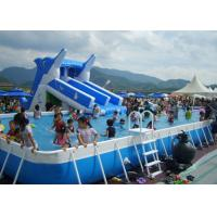 Wholesale Commercial Rectangular Above Ground 12ft Steel Framed Swimming Pools from china suppliers