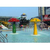 Wholesale 2.3m Height Fiberglass Vivid Mushrooms Spray Aqua Park Equipment For Children from china suppliers