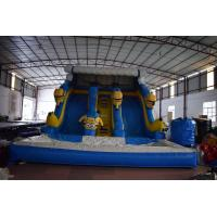 China Durable Commercial Inflatable Water Slides For Kids / Inflatable Minion Dry Slide on sale