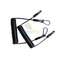 Wholesale PU TPU Material Heavy Duty Lanyard 1.5MM High Security Double Carabiner Hooks from china suppliers