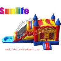 Wholesale inflatable pool and jumper slide combo from china suppliers
