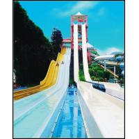 China Stainless Steel Fiberglass Water Slides With Rainbow Color For Kids / Adults in Water Park on sale