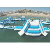 Eco - Friendly Giant Inflatable Floating Water Park / Inflatable Aqua Park For Sea