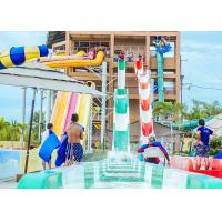 Wholesale High Speed Water Slides Funny Swimming Pool Water Amusement For Holiday Resort Visitors from china suppliers