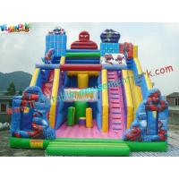 Wholesale Giant Spiderman Commercial Inflatable Slide  /  Huge Inflatable Slide Games For Funny from china suppliers