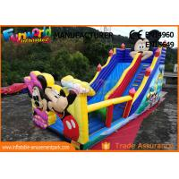 Quality Pvc Mickey Mouse Commercial Inflatable Bounce House With Slide Easy To Carry for sale