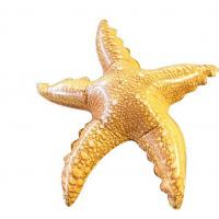 Wholesale Bright Orange Inflatable Pool Toys Starfish Constructed With High Strength Vinyl from china suppliers