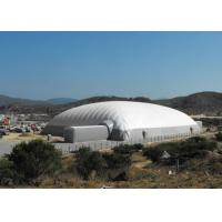 China Durable Super Giant Inflatable Tent White Air Building Structure For Tennis Playing on sale