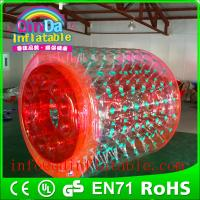 Wholesale QinDa Inflatable water toys water roller for sale inflatable water bubble roller from china suppliers