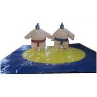 Blue Inflatable Figures Inflatable Sumo Suits Sports Playground