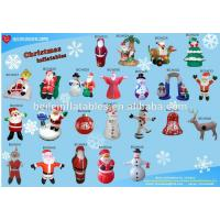 Advertising christmas inflatable santa and outhouse christmas inflatable decoration