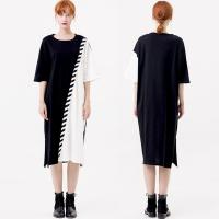 Wholesale OEM Casual Clothing Fashion Patchwork T-Shirt Dress Women from china suppliers