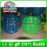 Wholesale wholesale inflatable soccer bubble/bubble football/inflatable ball suit from china suppliers