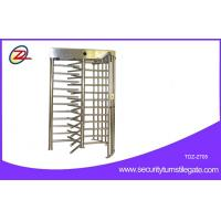 China 120 Degree Single Channel Electronic Semi-auto Single Turnstile Full Height on sale