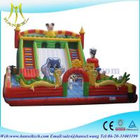 Quality Hansel giant inflatable space bouncer slide for sale