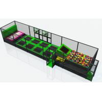 Wholesale Rectangle Jumping Trampoline Center Equipment , Jump Trampoline Park Anti Mildew from china suppliers