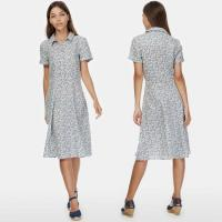 Wholesale 2018 New Boho Style Women Short Sleeve Linen Liberty Print Vintage Midi Beach Dress from china suppliers
