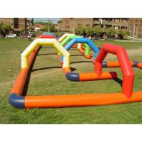 Quality Inflatable Amusement Park Playing Center Race Track With 0.55mm Pvc Tarpaulin for sale